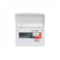 FuseBox F2 6 Way Consumer Unit - 100A Main Switch, T2 Surge Protection Device, Tail Clamp