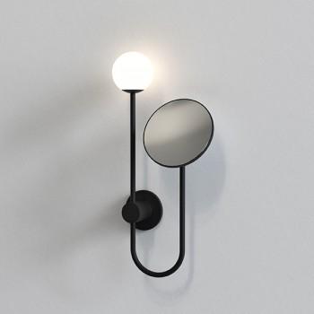 Astro Orb Matt Black Bathroom Mirror Light