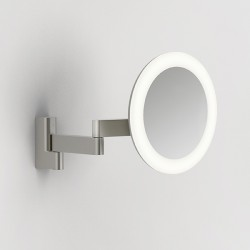 Astro Niimi Round Matt Nickel LED Bathroom Mirror Light
