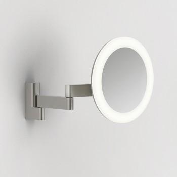 Astro Niimi Round Matt Nickel LED Bathroom Mirror Light