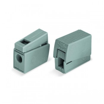 Wago Grey 2.5mm² Lighting Connector with Push Button - Pack of 100