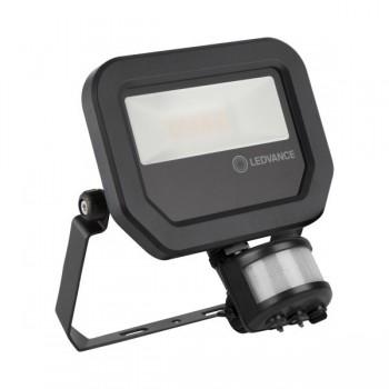 LEDVANCE GEN 3 10W 4000K Black LED Floodlight with Sensor