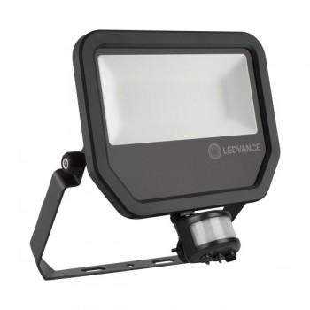 LEDVANCE GEN 3 50W 4000K Black LED Floodlight with Sensor