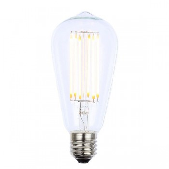 Forum Lighting Solutions INLIGHT Vintage 6W Warm White Dimmable E27 Clear LED Squirrel Cage Bulb
