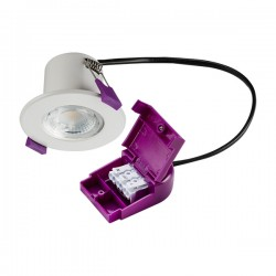 Knightsbridge IP65 Fire-Rated 5W 4000K Dimmable Fixed LED Downlight