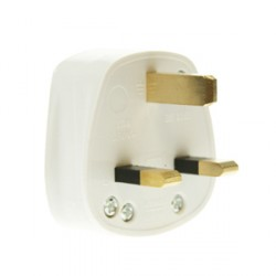 CED White 13amp 3 Pin Plug