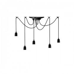Segula X-Tra Line Black Phoenix 5 Piece Pendant Set with Black Textile Cables