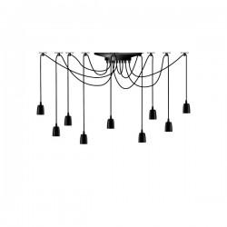 Segula X-Tra Line Black Phoenix 9 Piece Pendant Set with Black Textile Cables