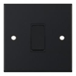 Selectric 5M Matt Black 1 Gang 10A Intermediate Switch with Black Insert