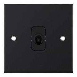 Selectric 5M Matt Black 1 Gang 10A Intermediate Toggle Switch with Black Insert