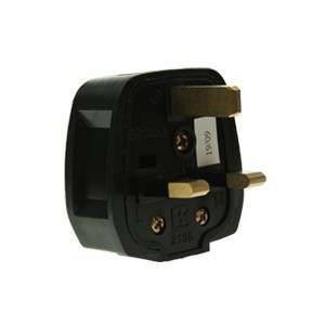 CED Black Rubber 13amp 3 Pin Plug