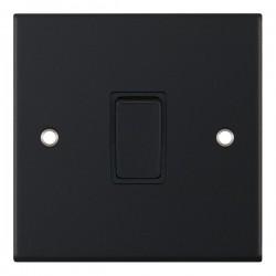 Selectric 5M Matt Black 1 Gang 20A DP Switch with Black Insert