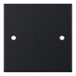 Selectric 5M Matt Black 20A Centre Entry Flex Outlet with Black Insert