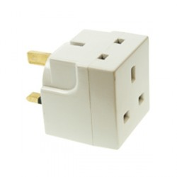 CED White 13amp Double Adaptor