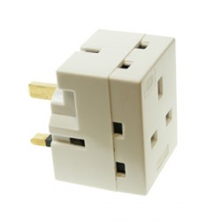 CED White 13amp Triple Adaptor