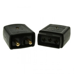 Black 5amp 2 Pin Flex Connector