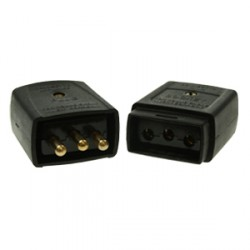 Black 10amp 3 Pin Flex Connector