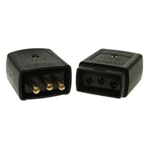 Black 10amp 3 Pin Flex Connector