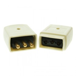 White 10amp 3 Pin Flex Connector