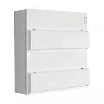 Hager Design 10 Metal 10+10 Way Consumer Unit - 100A Main Switch (Amendment 3)