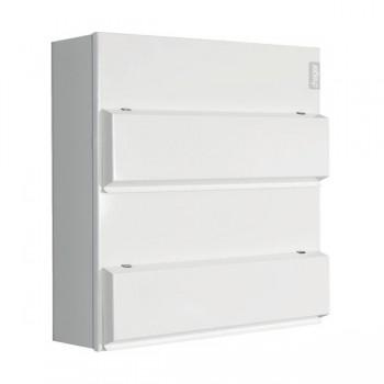Hager Design 10 Metal 14+14 Way Consumer Unit - 100A Main Switch (Amendment 3)