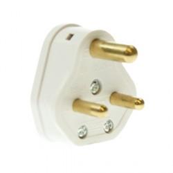 CED White 5amp 3 Pin Plug Top