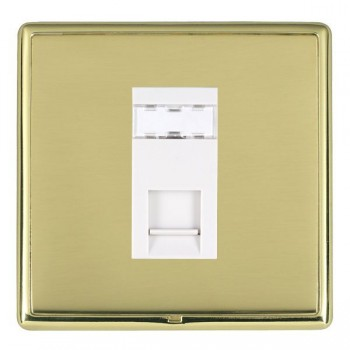 Hamilton Linea-Rondo CFX Polished Brass/Polished Brass 1 Gang RJ12 Outlet Unshielded with White Insert