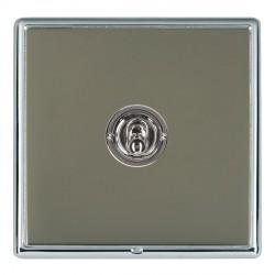 Hamilton Linea-Rondo CFX Bright Chrome/Black Nickel 1 Gang 2 Way Dolly with Bright Chrome Insert