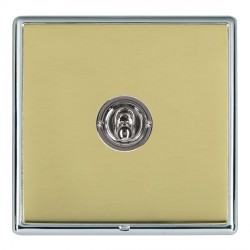 Hamilton Linea-Rondo CFX Bright Chrome/Polished Brass 1 Gang 2 Way Dolly with Bright Chrome Insert