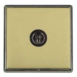 Hamilton Linea-Rondo CFX Black Nickel/Polished Brass 1 Gang 2 Way Dolly with Black Nickel Insert