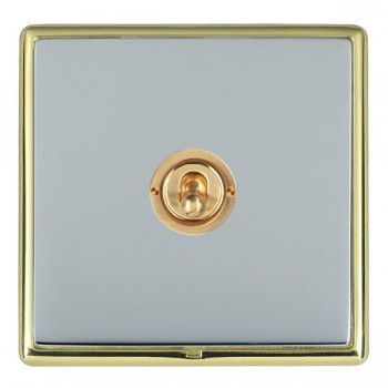 Hamilton Linea-Rondo CFX Polished Brass/Bright Steel 1 Gang 2 Way Dolly with Polished Brass Insert