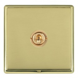 Hamilton Linea-Rondo CFX Polished Brass/Polished Brass 1 Gang 2 Way Dolly with Polished Brass Insert