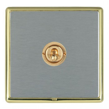 Hamilton Linea-Rondo CFX Polished Brass/Satin Steel 1 Gang 2 Way Dolly with Polished Brass Insert