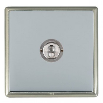 Hamilton Linea-Rondo CFX Satin Nickel/Bright Steel 1 Gang 2 Way Dolly with Satin Chrome Insert