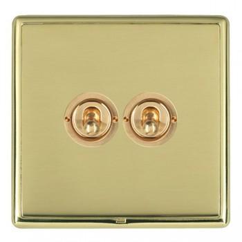 Hamilton Linea-Rondo CFX Polished Brass/Polished Brass 2 Gang 2 Way Dolly with Polished Brass Insert
