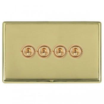 Hamilton Linea-Rondo CFX Polished Brass/Polished Brass 4 Gang 2 Way Dolly with Polished Brass Insert