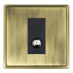 Hamilton Linea-Rondo CFX Antique Brass/Antique Brass 1 Gang Non Isolated Satellite with Black Insert