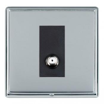 Hamilton Linea-Rondo CFX Bright Chrome/Bright Steel 1 Gang Non Isolated Satellite with Black Insert