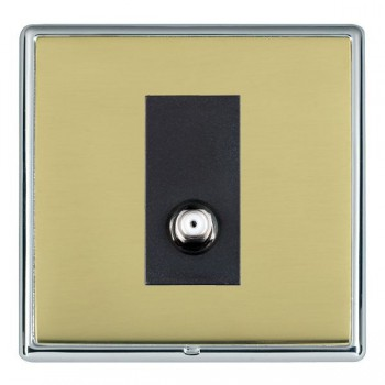Hamilton Linea-Rondo CFX Bright Chrome/Polished Brass 1 Gang Non Isolated Satellite with Black Insert