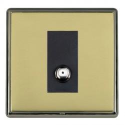 Hamilton Linea-Rondo CFX Black Nickel/Polished Brass 1 Gang Non Isolated Satellite with Black Insert