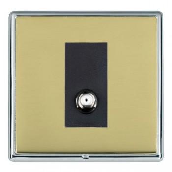 Hamilton Linea-Rondo CFX Bright Chrome/Polished Brass 1 Gang Isolated Satellite with Black Insert