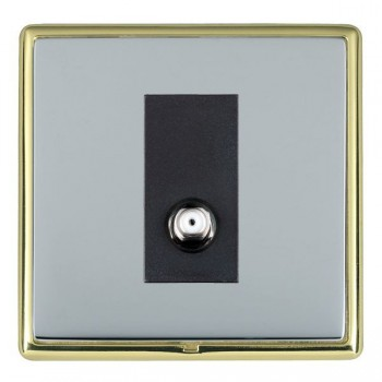 Hamilton Linea-Rondo CFX Polished Brass/Bright Steel 1 Gang Isolated Satellite with Black Insert