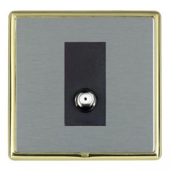 Hamilton Linea-Rondo CFX Polished Brass/Satin Steel 1 Gang Isolated Satellite with Black Insert