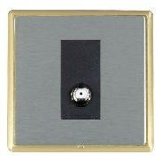 Hamilton Linea-Rondo CFX Satin Brass/Satin Steel 1 Gang Isolated Satellite with Black Insert