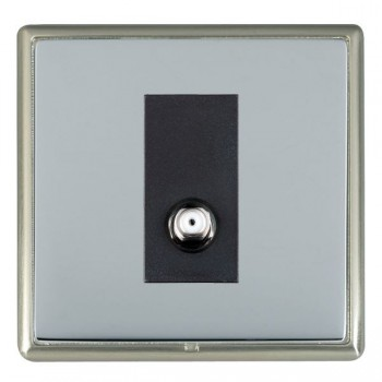 Hamilton Linea-Rondo CFX Satin Nickel/Bright Steel 1 Gang Isolated Satellite with Black Insert
