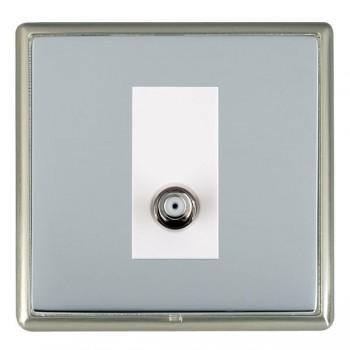 Hamilton Linea-Rondo CFX Satin Nickel/Bright Steel 1 Gang Isolated Satellite with White Insert