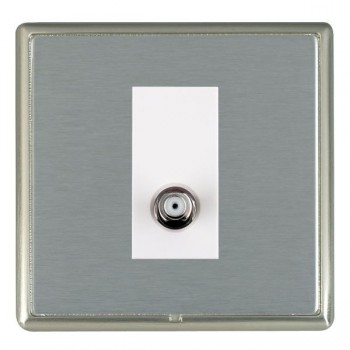 Hamilton Linea-Rondo CFX Satin Nickel/Satin Steel 1 Gang Isolated Satellite with White Insert