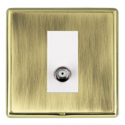 Hamilton Linea-Rondo CFX Polished Brass/Antique Brass 1 Gang Non Isolated Satellite with White Insert