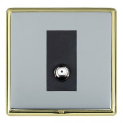 Hamilton Linea-Rondo CFX Polished Brass/Bright Steel 1 Gang Non Isolated Satellite with Black Insert