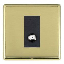 Hamilton Linea-Rondo CFX Polished Brass/Polished Brass 1 Gang Non Isolated Satellite with Black Insert